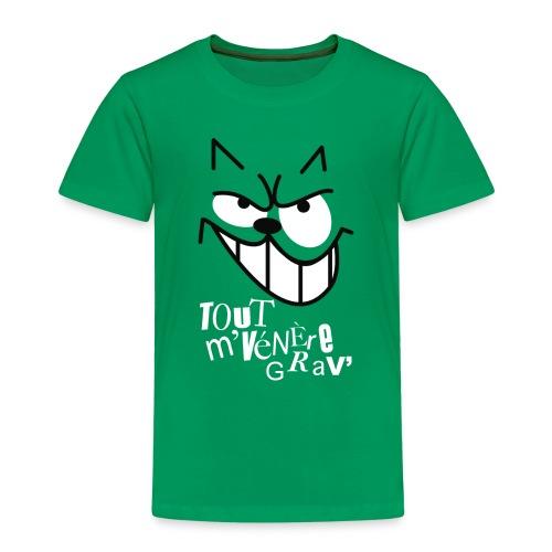 CHAT TOUT M'ENERVE GRAVE - T-shirt Premium Enfant