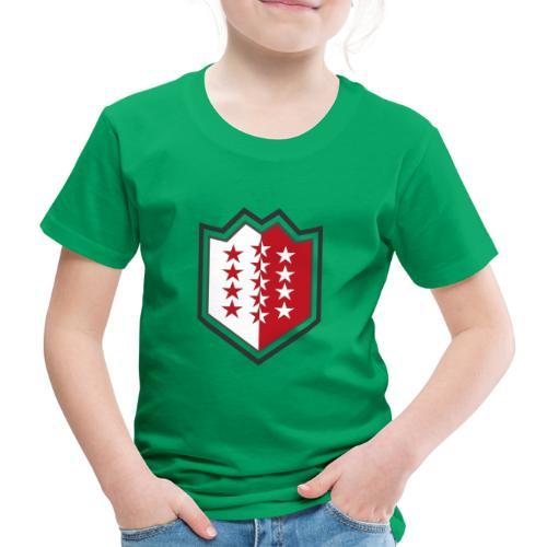 T-Shirt avec drapeau valaisan - Valais - Wallis - T-shirt Premium Enfant
