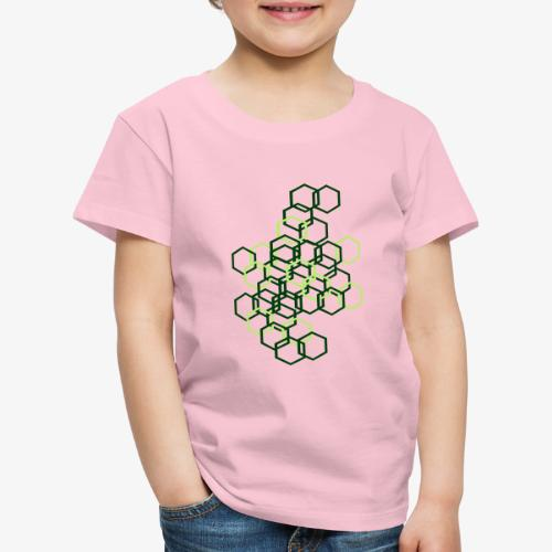 Hexagon Muster - Kinder Premium T-Shirt