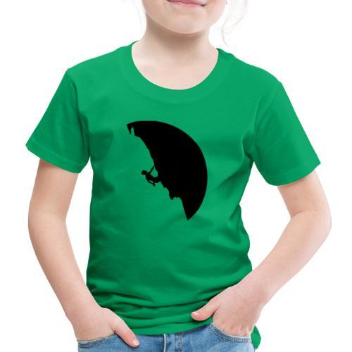 Kletterer in schwarz - Kinder Premium T-Shirt