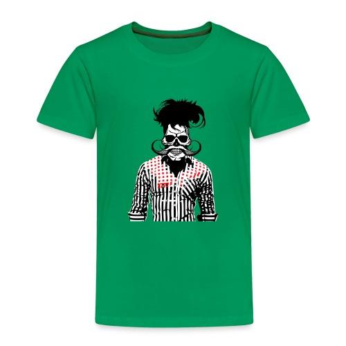 tete de mort hipster chemise skull moustache crane - T-shirt Premium Enfant