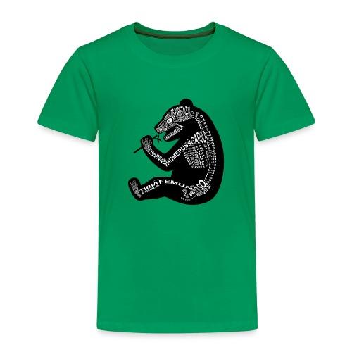 Panda-skelet - Børne premium T-shirt