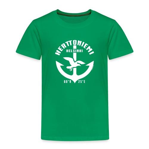 Herttoniemi Helsinki Ankkuri tekstiilit ja lahjat - Lasten premium t-paita