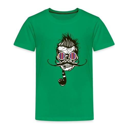 tete de mort hipster pipe crane skull coiffure pun - T-shirt Premium Enfant