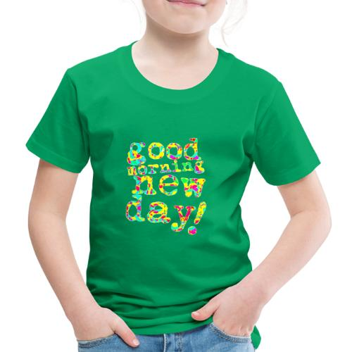 good morning new day yellow and red - Kinderen Premium T-shirt