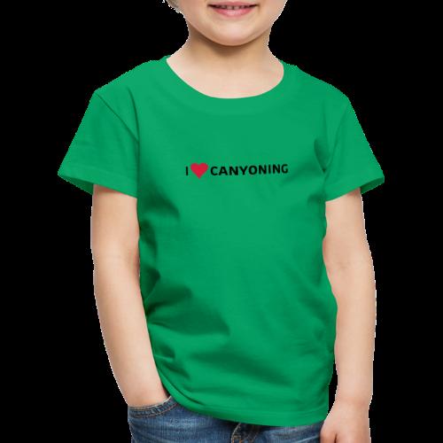 I Love Canyoning - Kinder Premium T-Shirt