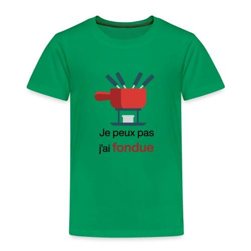 Je peux pas j'ai fondue au fromage - T-shirt Premium Enfant