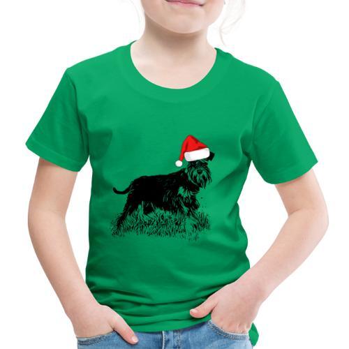 Weihnachten Zwergschnauzer Hund Schnauzer Geschenk - Kinder Premium T-Shirt