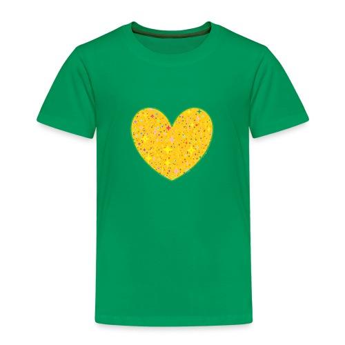 CORAZON CON ESTRELLAS VERDE - Camiseta premium niño