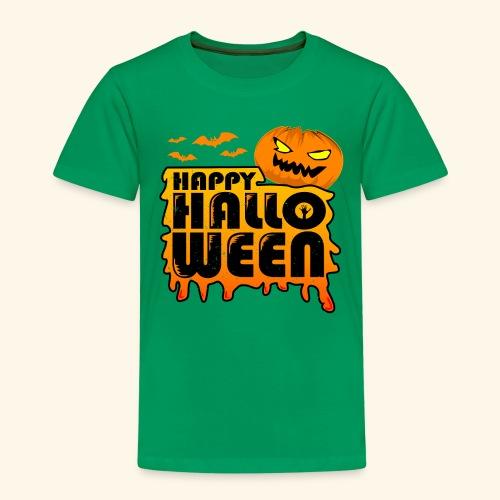 schauriger Kürbis Happy Halloween - Kinder Premium T-Shirt