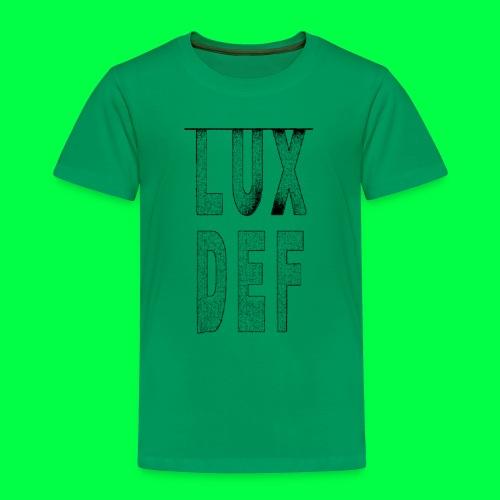 lux def: graphic brand logo design grafikdesign - Kinder Premium T-Shirt