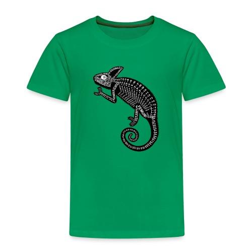 Chameleon Skeleton - Lasten premium t-paita