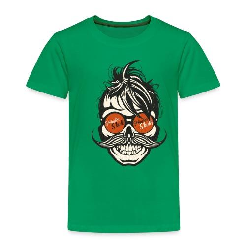 tete de mort hipster skull crane moustache lunette - T-shirt Premium Enfant