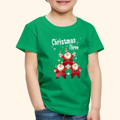 Christmas Three Weihnacht Baum drei - Kinder Premium T-Shirt