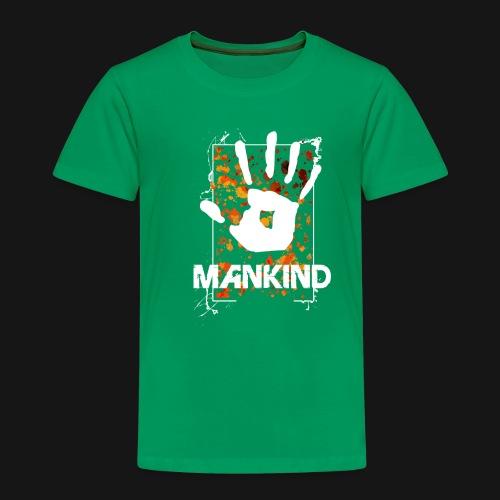 Mankind splatter design hand - Kids' Premium T-Shirt