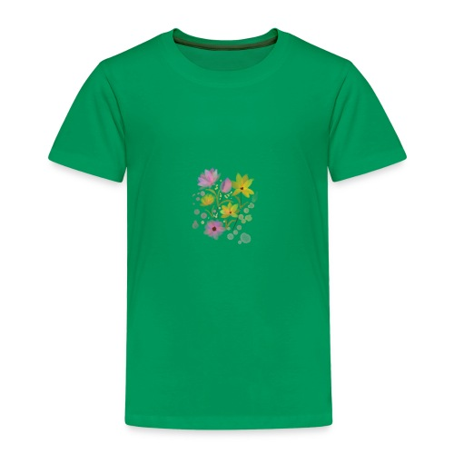 Wasserfarbe Blumen Muster mädchen - Kinder Premium T-Shirt