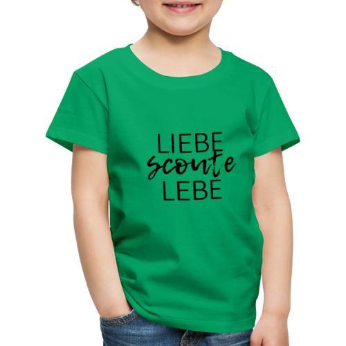 Liebe Scoute Lebe Lettering - Farbe frei wählbar - Kinder Premium T-Shirt