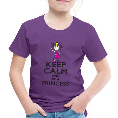 Keep calm an be a princess - Kinder Premium T-Shirt