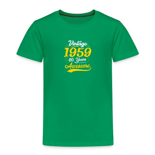 Vintage 1959 60th Birthday - Maglietta Premium per bambini
