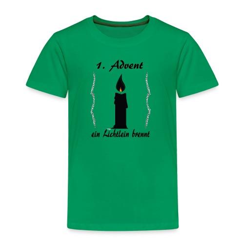 1 Advent Weihnachtsshirt winter design - Kinder Premium T-Shirt