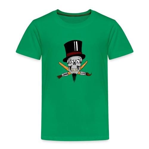 pinsel skull - Kinder Premium T-Shirt