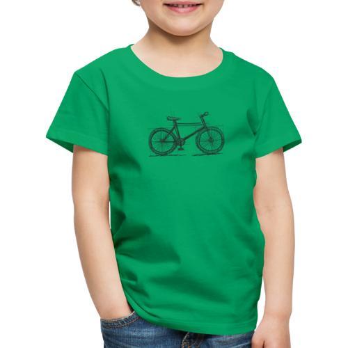 Skizzefahrrad Bleistift - Kinder Premium T-Shirt