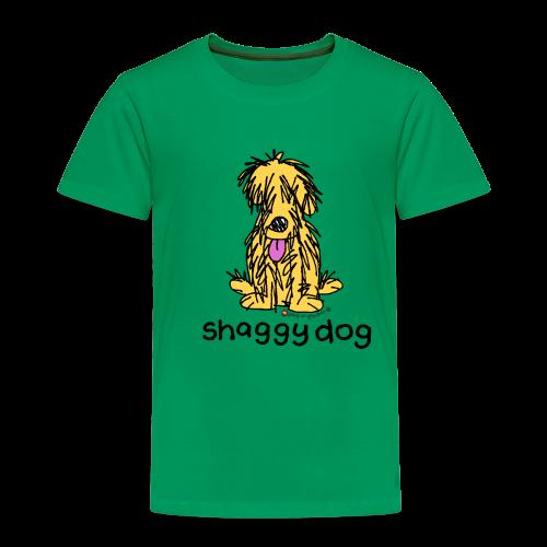 shaggy dog bang on the door - Kids' Premium T-Shirt