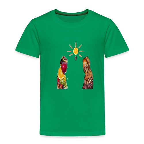 Meat versus fruit inside the body ,foodcontest - Kids' Premium T-Shirt