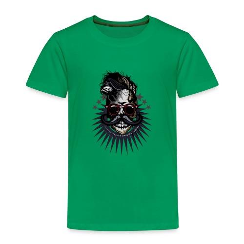 tete de mort hipster crane moustache skull logo lu - T-shirt Premium Enfant
