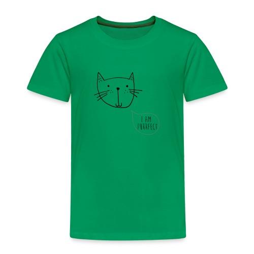 """Kleine Katze """"I am Purrfect"""" handgezeichnet - Kinder Premium T-Shirt"""