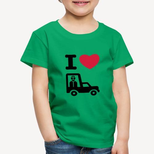 Papst im Auto - Kids' Premium T-Shirt