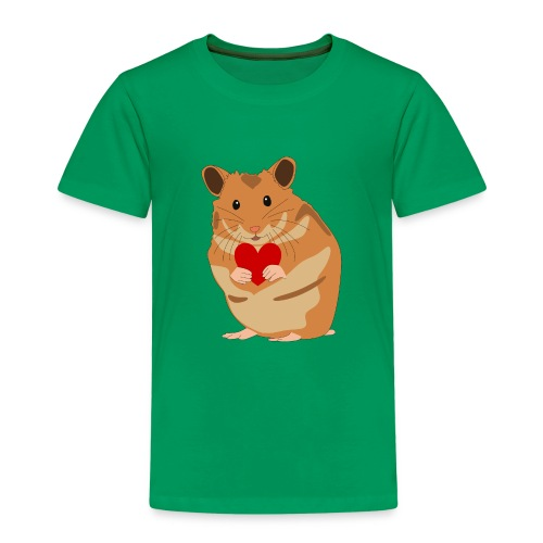Hamster mit Herz - Hamsterliebe - Hamsterfan - Kinder Premium T-Shirt