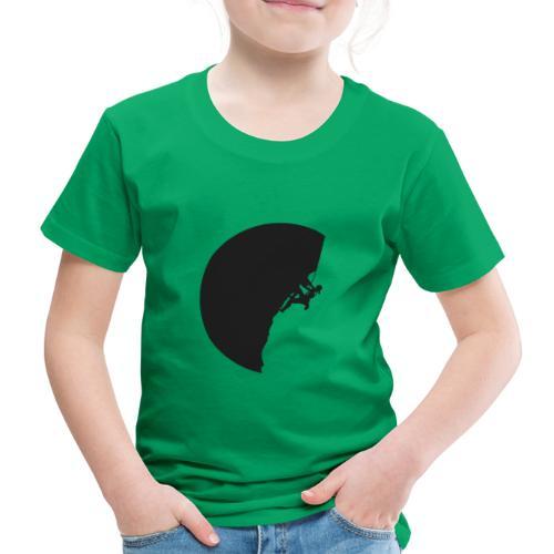 Klettrerin in schwarz - Kinder Premium T-Shirt