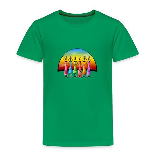 Frauen Afrika Farbig modern Gruppe - Kinder Premium T-Shirt