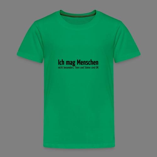 Ich mag Menschen - Kinder Premium T-Shirt