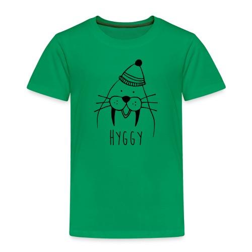 Freundliches Walross mit Mütze Hyggy hyggecontest - Kinder Premium T-Shirt