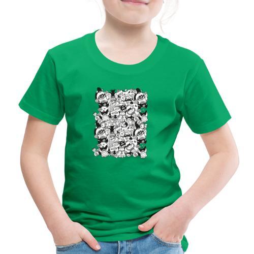 Monsters panic for star - Kids' Premium T-Shirt