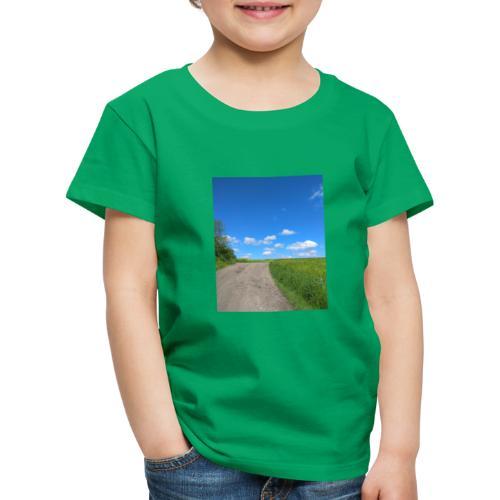 Landschaft Weg Himmel Geschenidee - Kinder Premium T-Shirt