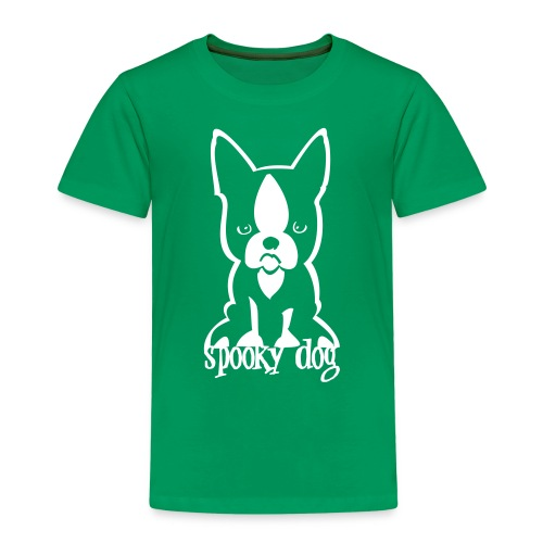spooky dog sitzend - Kids' Premium T-Shirt