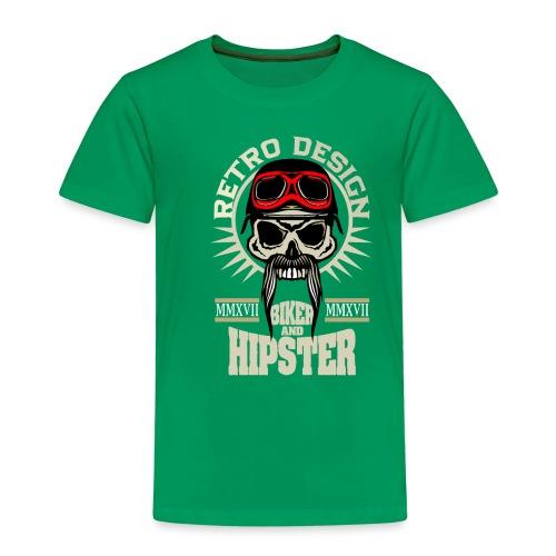 tete de mort hipster biker skull crane motard lune - T-shirt Premium Enfant