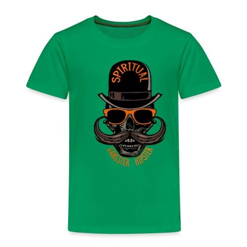 tete de mort hipster crane skull gangster moustach - T-shirt Premium Enfant