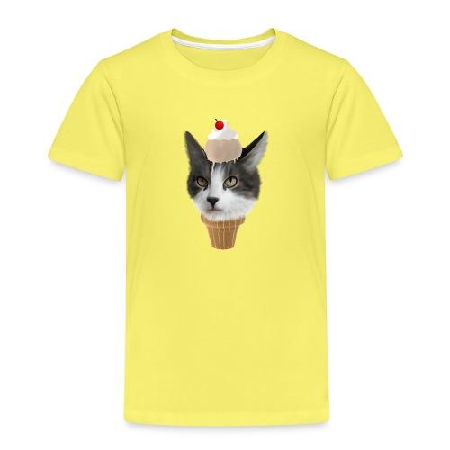 Ice Cream Cat - Kinder Premium T-Shirt