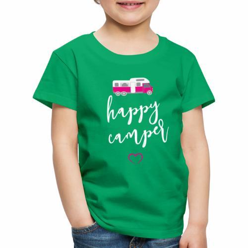 happy Camper pink weiss - Kinder Premium T-Shirt