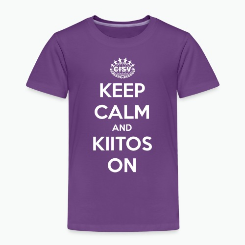 keep calm and kiitos on - Kinder Premium T-Shirt