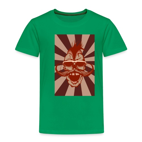 tete de mort crane hipster skull moustache design - T-shirt Premium Enfant