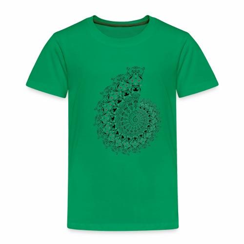 fractal - Børne premium T-shirt