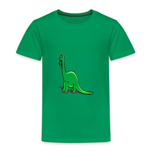 Süsser Langhals Dinosaurier - Kinder Premium T-Shirt