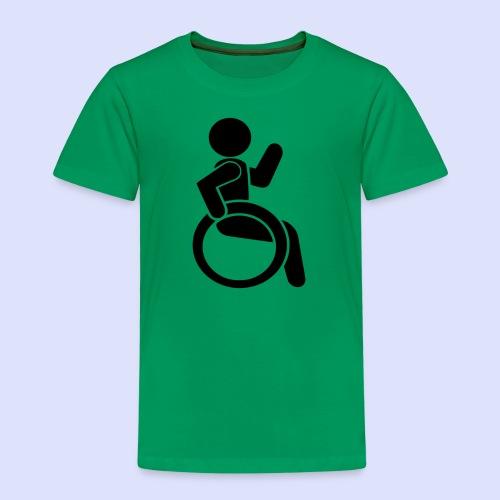 Zwaaiende rolstoel gebruiker 001 - Kinderen Premium T-shirt
