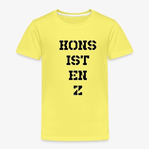 Konsistenz - schwarz - Kinder Premium T-Shirt