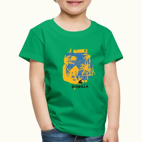 Gorilla Palmen - Kinder Premium T-Shirt